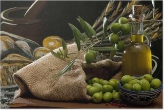 Poster Oliven und Öl
