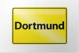 Poster Ortsschild Dortmund