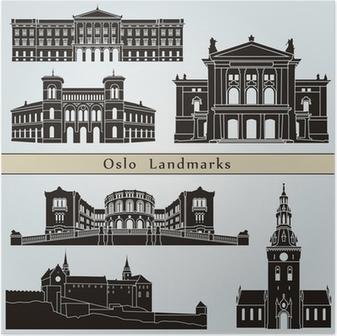 Poster Oslo Sehenswürdigkeiten und Monumente