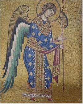 Poster Palerno - Mosaik des Erzengels Michael in La Martorana