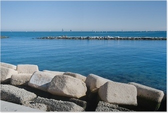 Poster Panoramic view of Bari. Apulia.