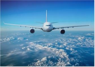 Poster Passagierflugzeug in den Himmel