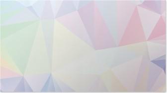 Poster Pastell Polygon Geometrische