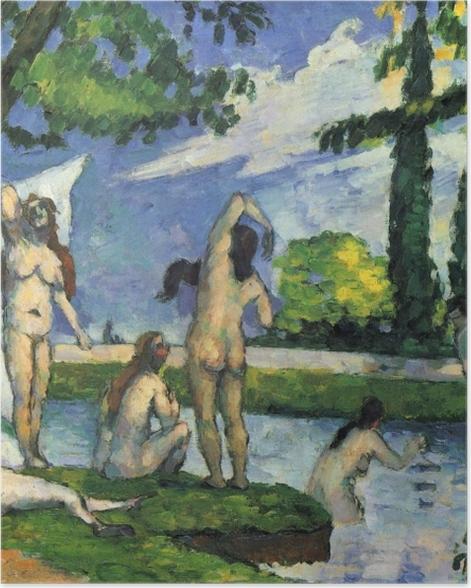 Poster Paul Cézanne - Badende. Studie - Reproduktion