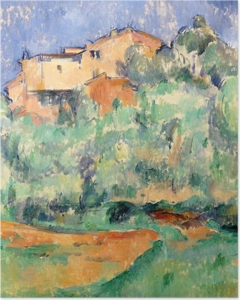 Poster Paul Cézanne - Das Gehöft von Bellevue mit Taubenschlag - Reproduktion