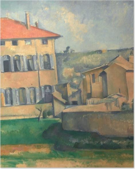 Poster Paul Cézanne - Das Landgut Jas de Bouffan - Reproduktion