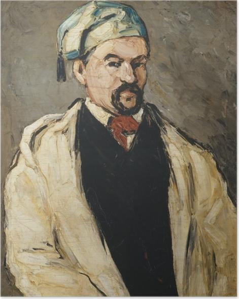 Poster Paul Cézanne - Der Mann mit der blauen Mütze (Porträt des Onkels Dominique) - Reproduktion