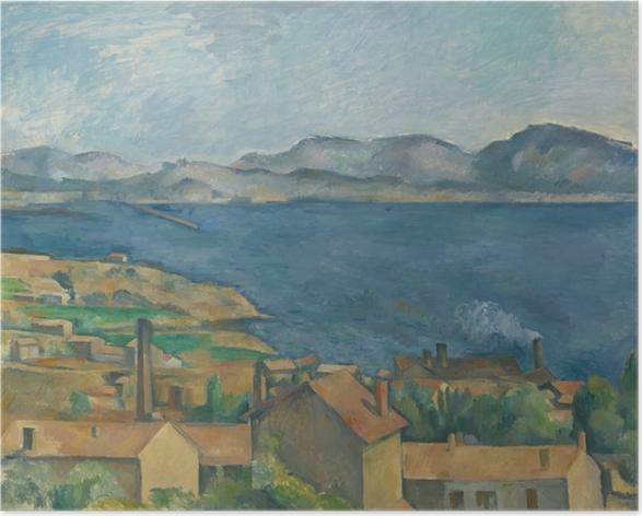 Poster Paul Cézanne - Die Bucht von Marseille, von L'Estaque aus gesehen - Reproduktion