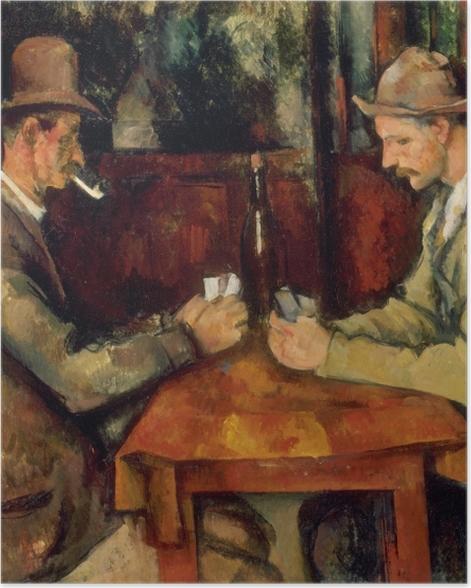 Poster Paul Cézanne - Die Kartenspieler - Reproduktion