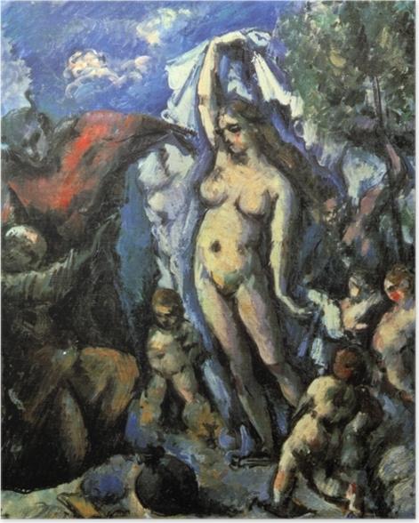 Poster Paul Cézanne - Die Versuchung des heiligen Antonius - Reproduktion
