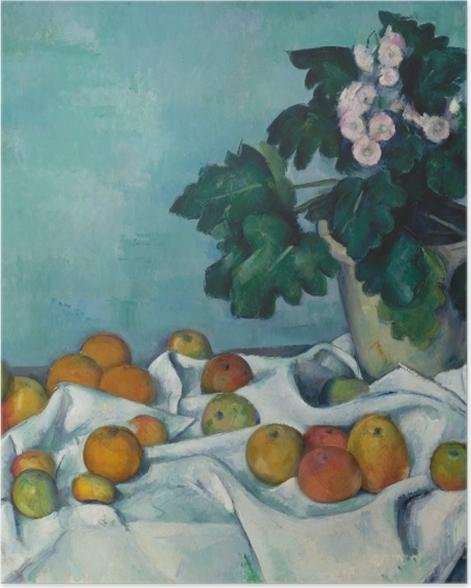 Poster Paul Cézanne - Obst auf einem Tuch - Reproduktion
