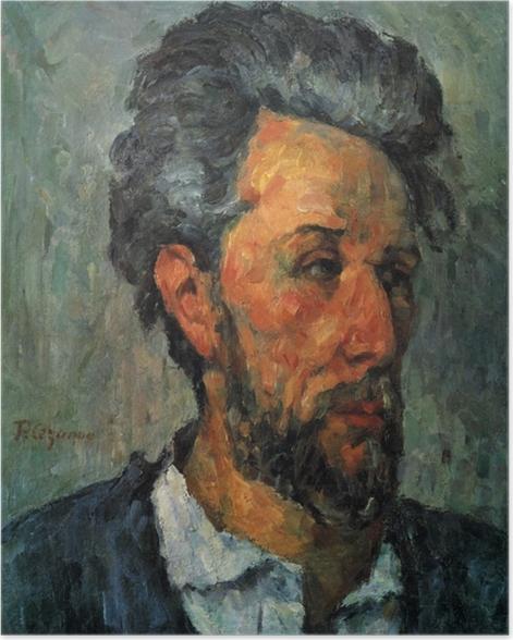 Poster Paul Cézanne - Porträt des Victor Chocquet - Reproduktion