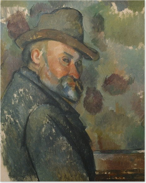Poster Paul Cézanne - Selbstporträt - Reproduktion