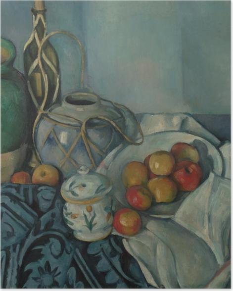 Poster Paul Cézanne - Stillleben mit Ingwertopf, Zuckerdose und Äpfeln - Reproduktion