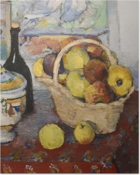 Poster Paul Cézanne - Stillleben mit Obstkorb und Suppenterrine - Reproduktion