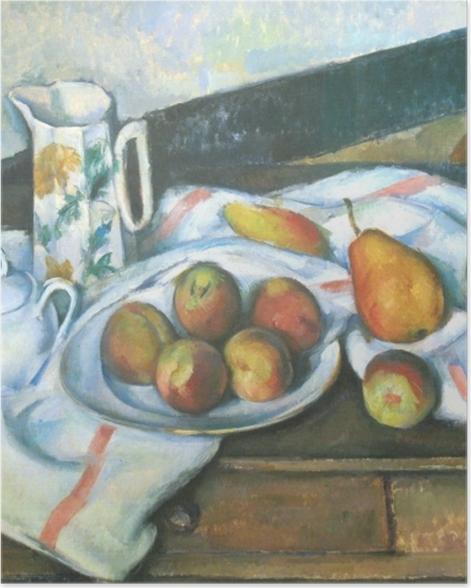 Poster Paul Cézanne - Stillleben mit Pfirsichen und Birnen - Reproduktion