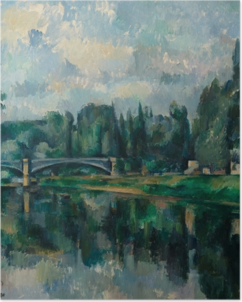 Poster Paul Cézanne - Ufer der Marne (Brücke über die Marne in Créteil) - Reproduktion
