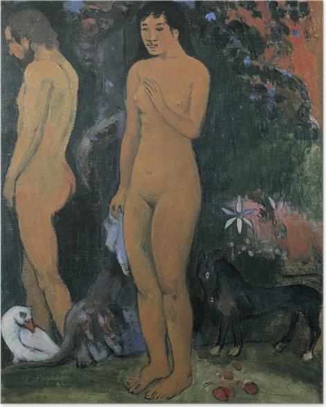 Poster Paul Gauguin - Adam und Eva - Reproduktion