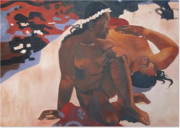 Poster Paul Gauguin - Aha oe feii? (Wie! Du bist eifersüchtig?) - Reproduktion