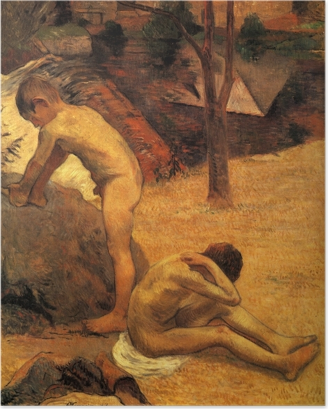Poster Paul Gauguin - Badende bretonische Knaben - Reproduktion