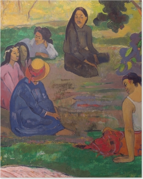 Poster Paul Gauguin - Das Gespräch - Reproduktion