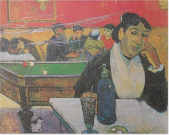Poster Paul Gauguin - Das Nachtcafé in Arles (Madame Ginoux) - Reproduktion