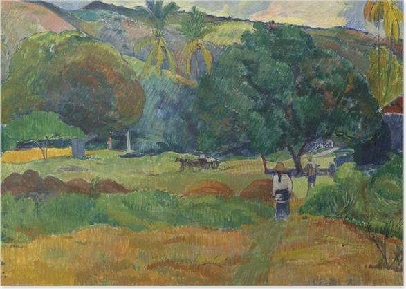 Poster Paul Gauguin - Das Tal - Reproduktion
