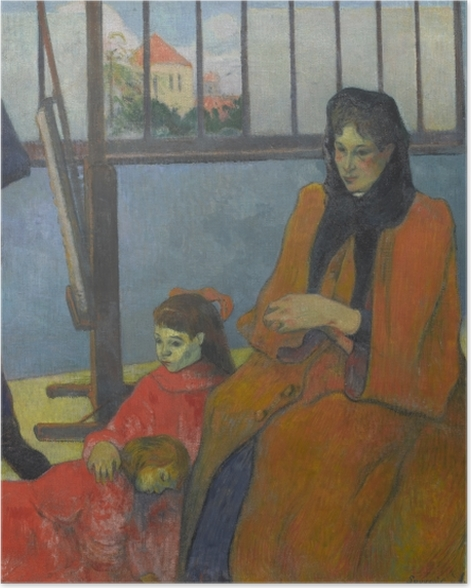 Poster Paul Gauguin - Die Familie Schuffenecker - Reproduktion