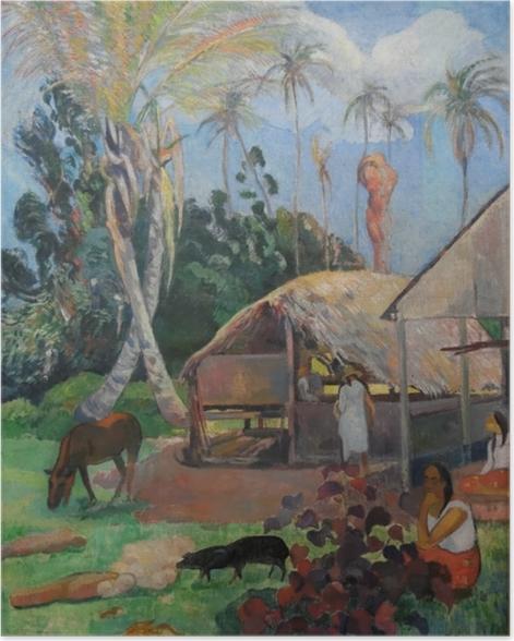 Poster Paul Gauguin - Die schwarzen Schweine - Reproduktion