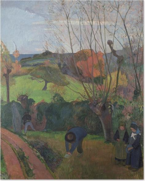 Poster Paul Gauguin - Die Weiden - Reproduktion