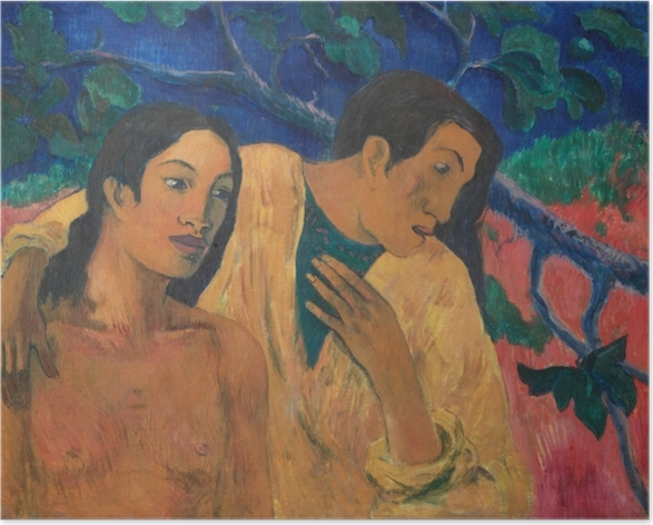 Poster Paul Gauguin - Flight (Tahiti Idyll) - Reproduktion