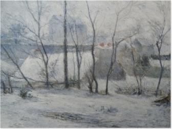 Poster Paul Gauguin - Garten unter Schnee