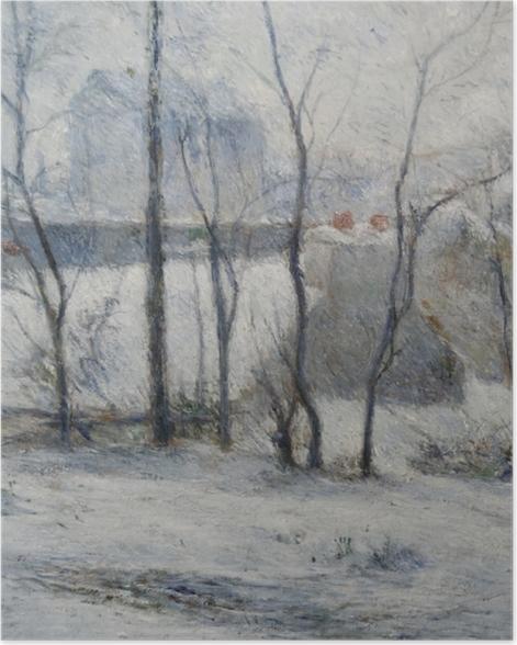 Poster Paul Gauguin - Garten unter Schnee - Reproduktion
