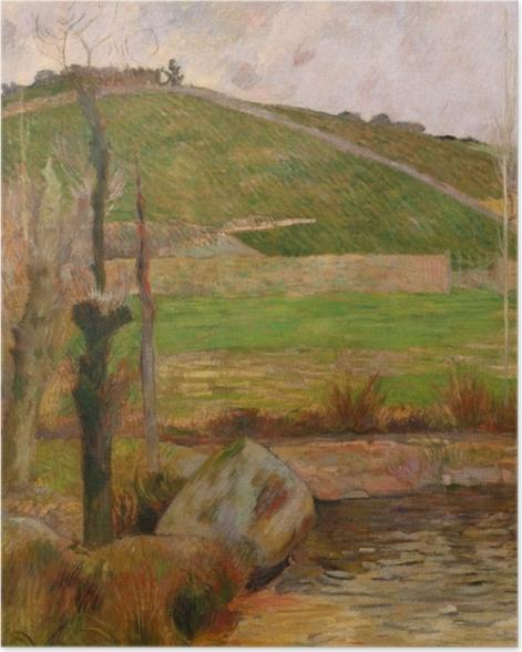 Poster Paul Gauguin - Landschaft in der Nähe von Pont-Aven - Reproduktion