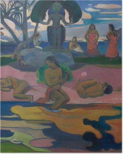 Poster Paul Gauguin - Mahana No Atua (Tag des Gottes) - Reproduktion