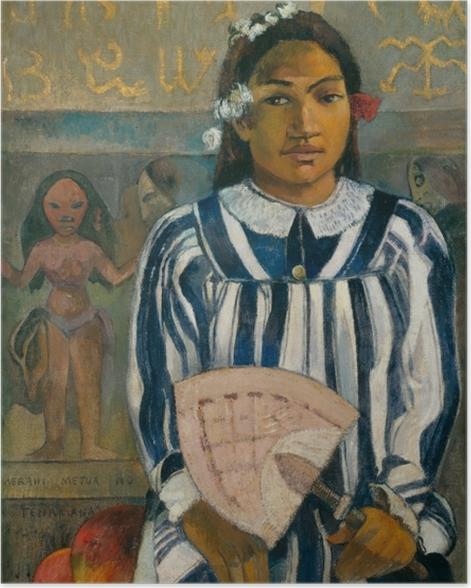 Poster Paul Gauguin - Merahi metua no Tehamana (Tehamana hat viele Vorfahren) - Reproduktion