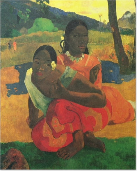 Poster Paul Gauguin - Nafea faa ipoipo (Wann heiratest du?) - Reproduktion