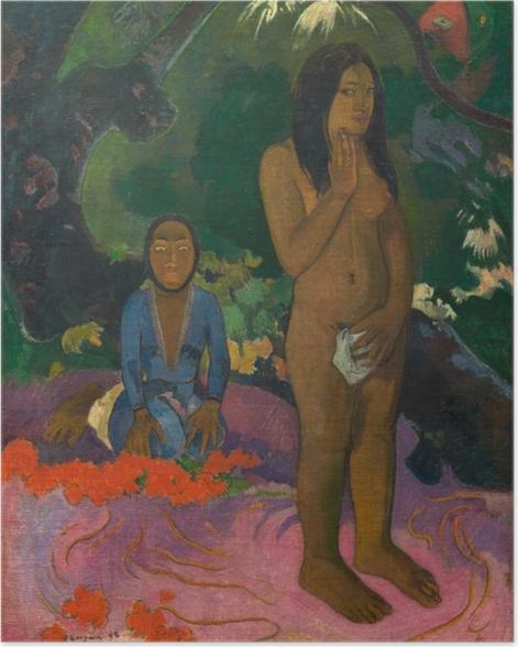 Poster Paul Gauguin - Parau na te Varua Ino (Worte des Teufels) - Reproduktion