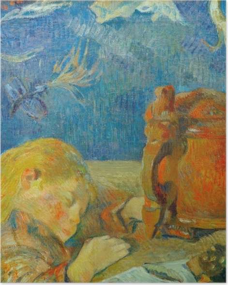 Poster Paul Gauguin - Porträt Clovis Gauguin (Schlafendes Kind) - Reproduktion