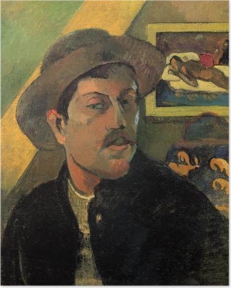Poster Paul Gauguin - Porträt des Künstlers - Reproduktion