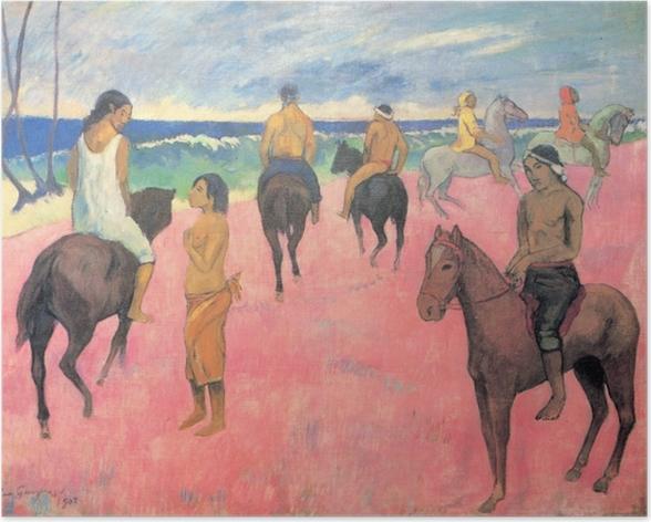 Poster Paul Gauguin - Reiter am Strand - Reproduktion