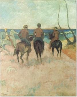 Poster Paul Gauguin - Reiter am Strand