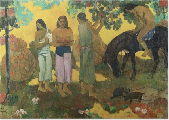 Poster Paul Gauguin - Rupe Rupe (Obsternte) - Reproduktion