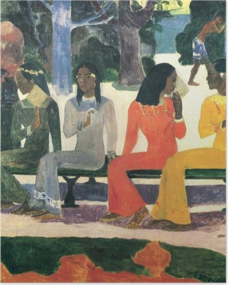 Poster Paul Gauguin - Ta Matete (Der Markt) - Reproduktion