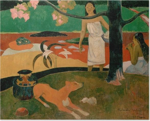Poster Paul Gauguin - Tahitische Hirtenlieder - Reproduktion