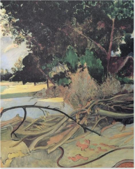 Poster Paul Gauguin - Te Burao (Der Hibiskusbaum) - Reproduktion