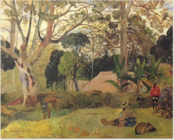 Poster Paul Gauguin - Te Raau Rahi (Der große Baum) - Reproduktion