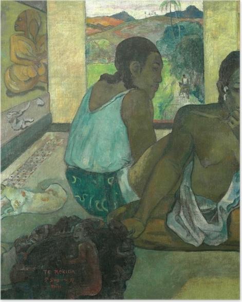 Poster Paul Gauguin - Te rerioa (Der Traum) - Reproduktion