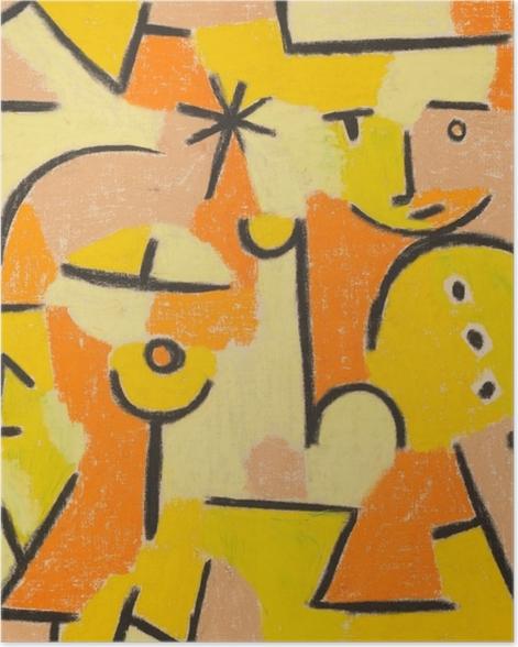 Poster Paul Klee - Figur in Gelb - Reproduktion