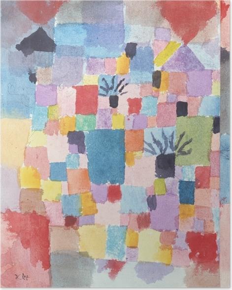 Poster Paul Klee - Südliche (Tunesische) Gärten - Reproduktion